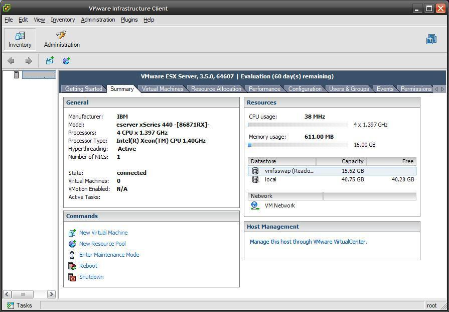 first time VMware ESX has