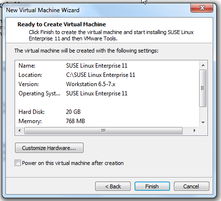 SLES 11 SP1 for VMware – Just that easy on Workstation 7