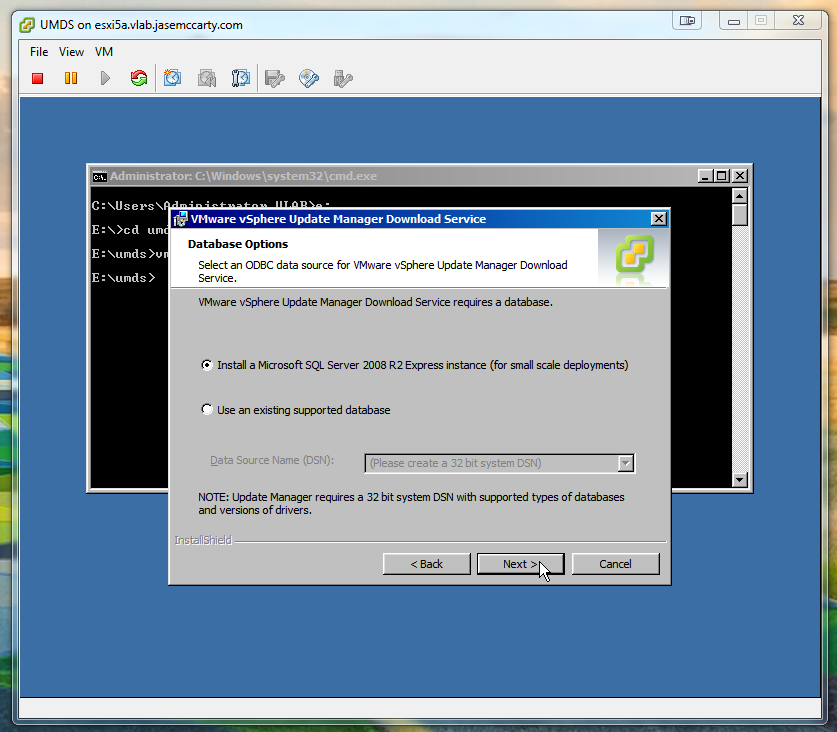 VMware Update Manager Download Service on Windows 2008 R2 Core